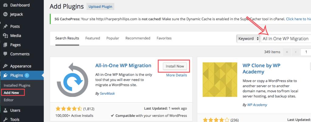 非常好用的Wordpress备份插件