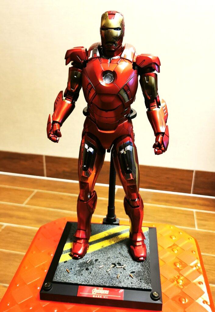 开箱丨Hot Toys 复联1钢铁侠Mark 7 普通版1:6合金珍藏人偶插图10