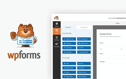 WPForms  – 最好的拖放式WordPress在线表单生成器